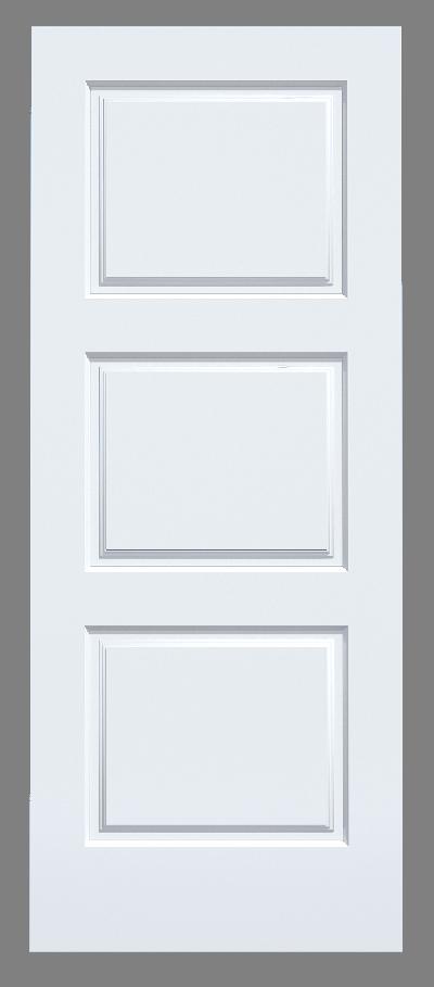 3 Panel MDF Door